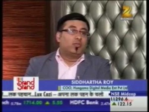 Mr. Siddhartha Roy at Brand Stand Dialouge on Zee Business